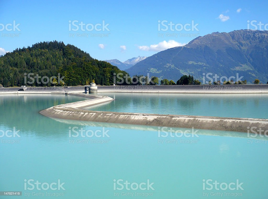 Water reservoir stock photo