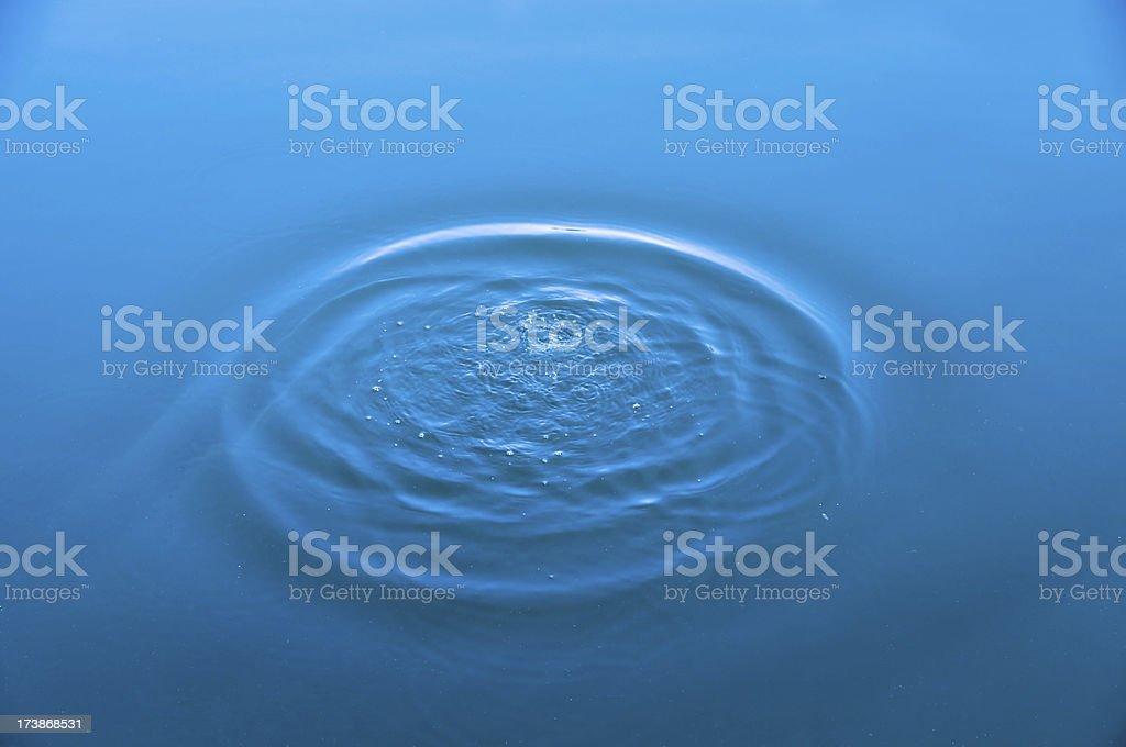 water ring in the lake stock photo