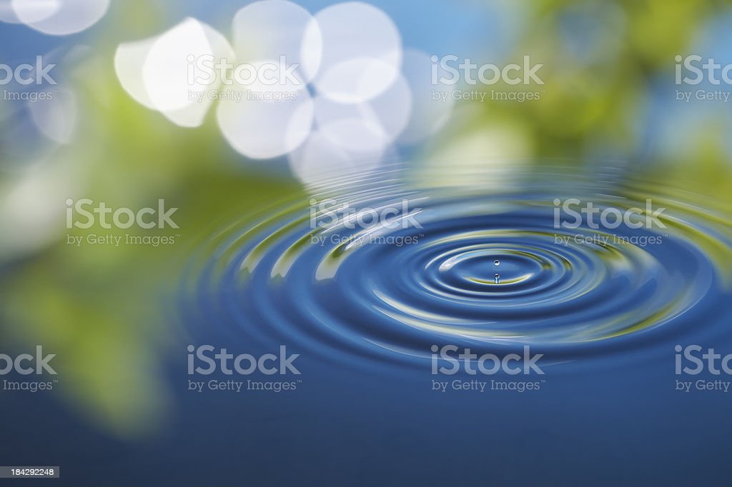 water ripple stock photo