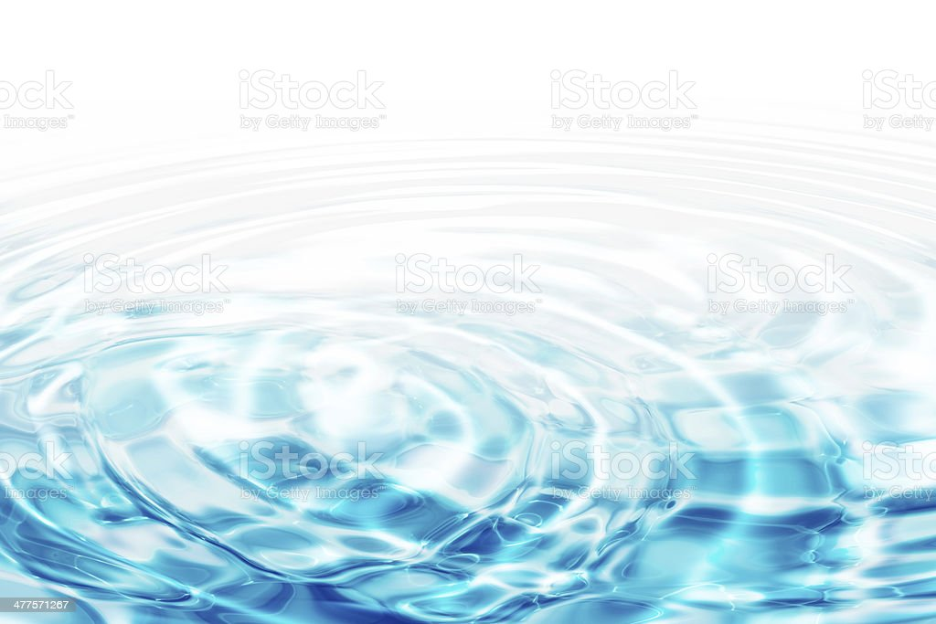 water ripples - turquoise concentric circles stock photo