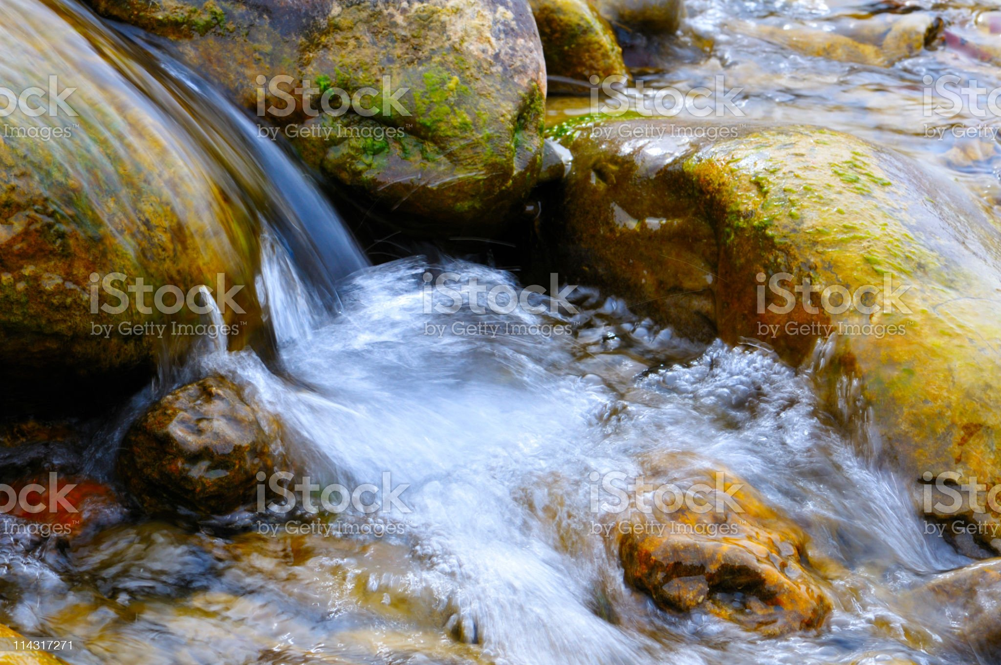 Water Running Over Rocks royalty-free stock photo