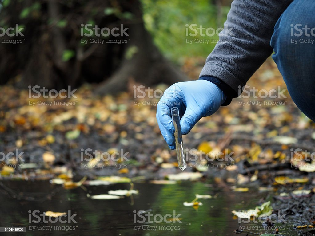 Water sample stock photo