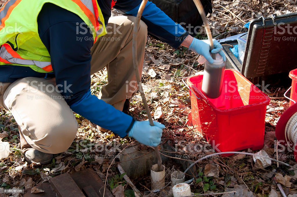 Water Sampling stock photo