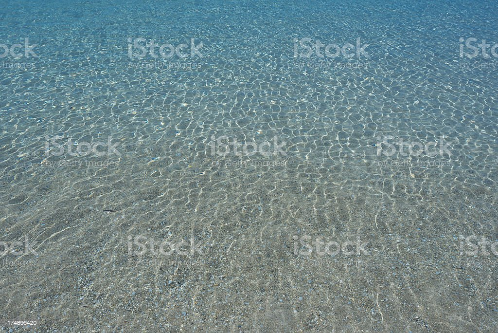 Water, sand and pebbles royalty-free stock photo