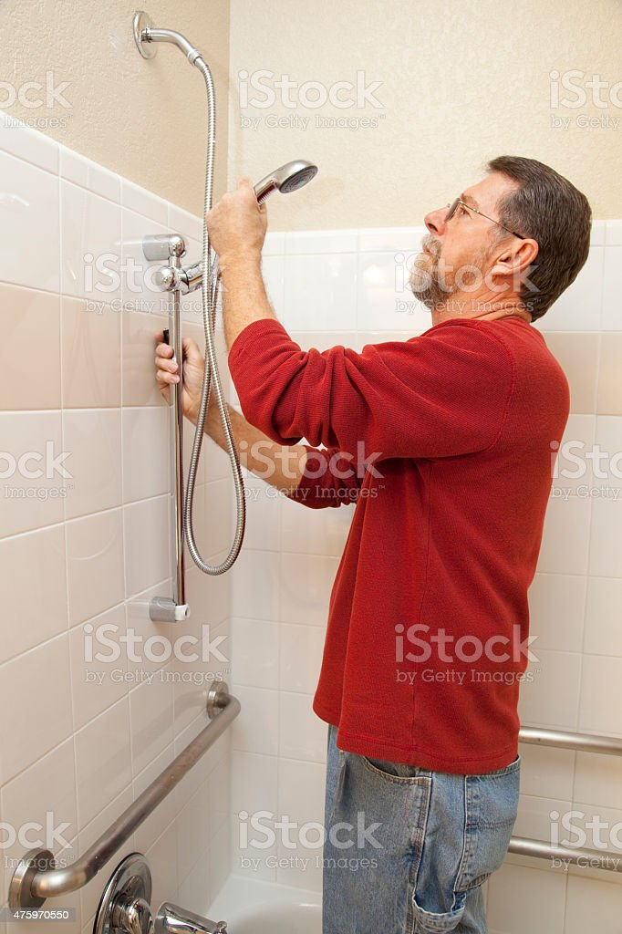 Water Saving Shower stock photo
