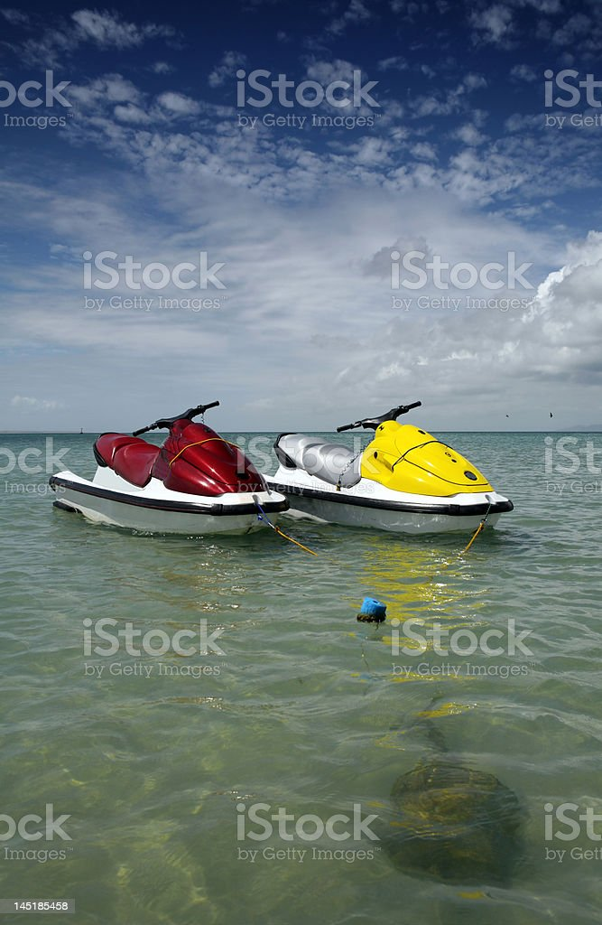 water scooters royalty-free stock photo