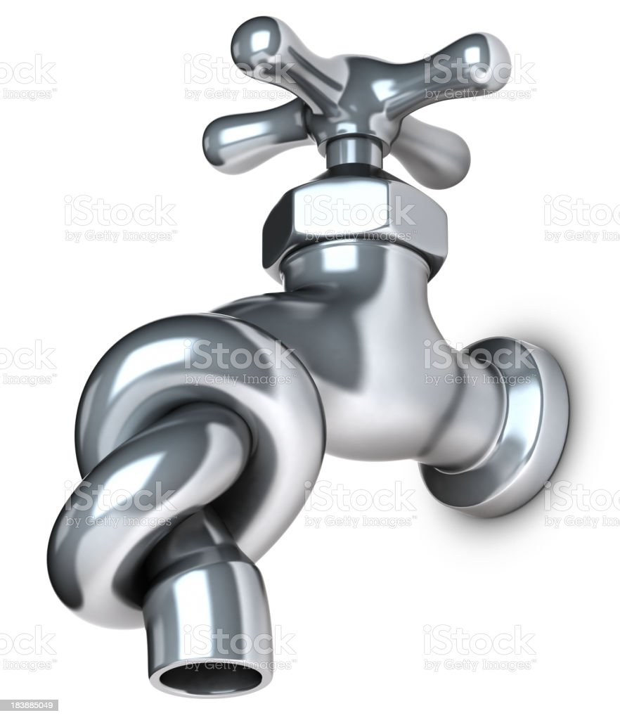Water shortage knotted tap stock photo