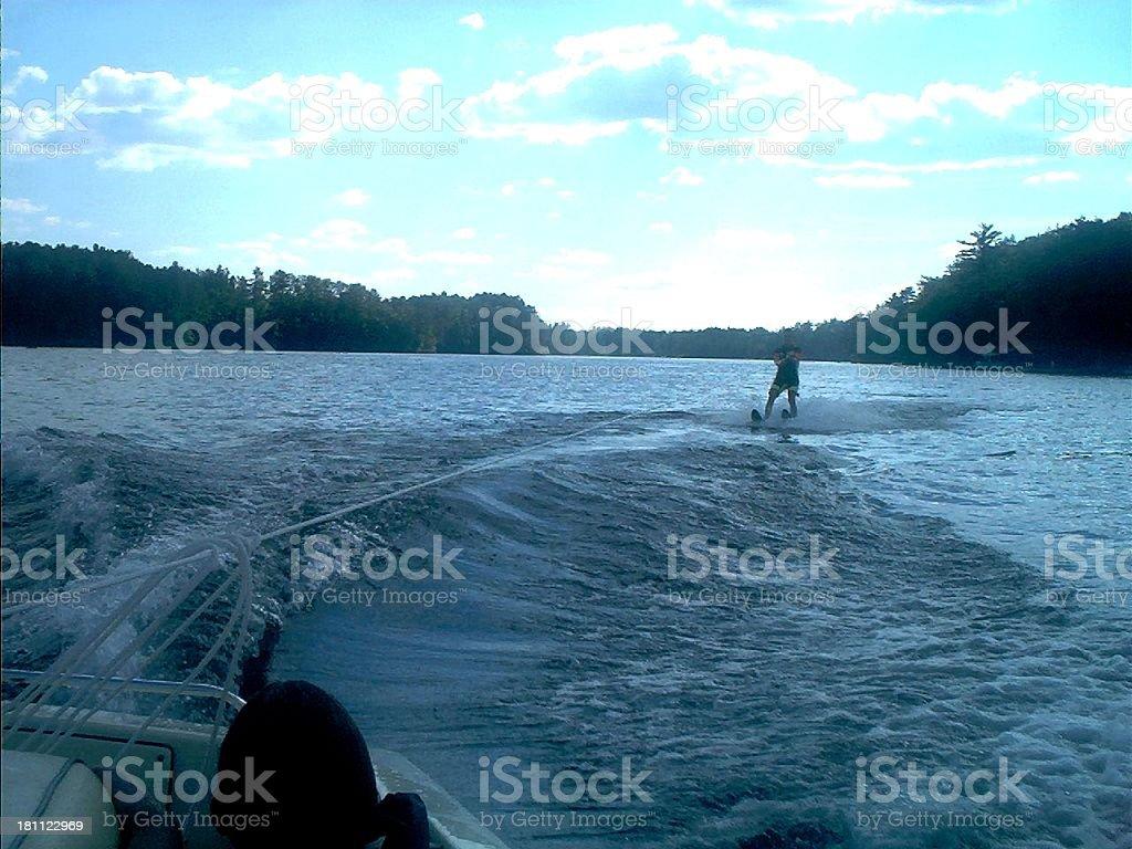 Water Skier royalty-free stock photo