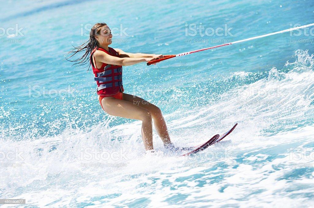 Water skiing royalty-free stock photo