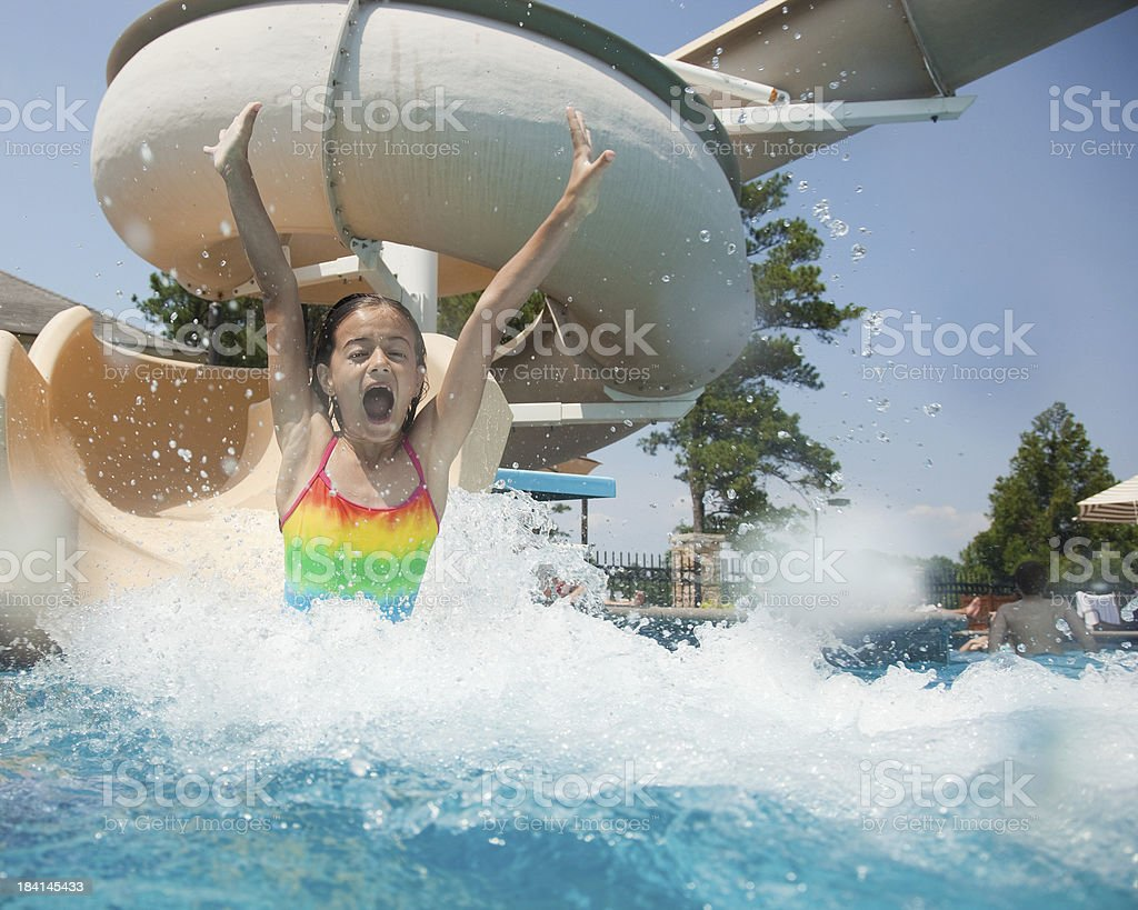 Water Slide Fun stock photo
