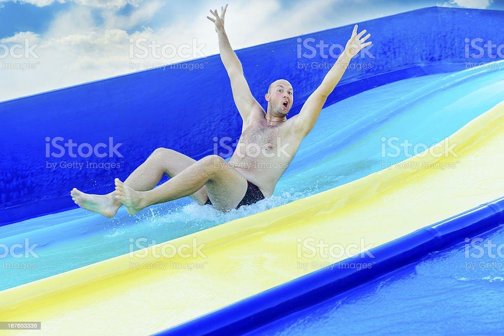 water slide fun royalty-free stock photo
