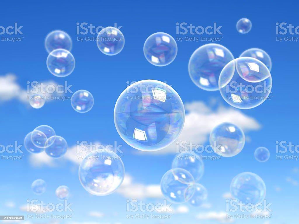 Water soap bubble stock photo