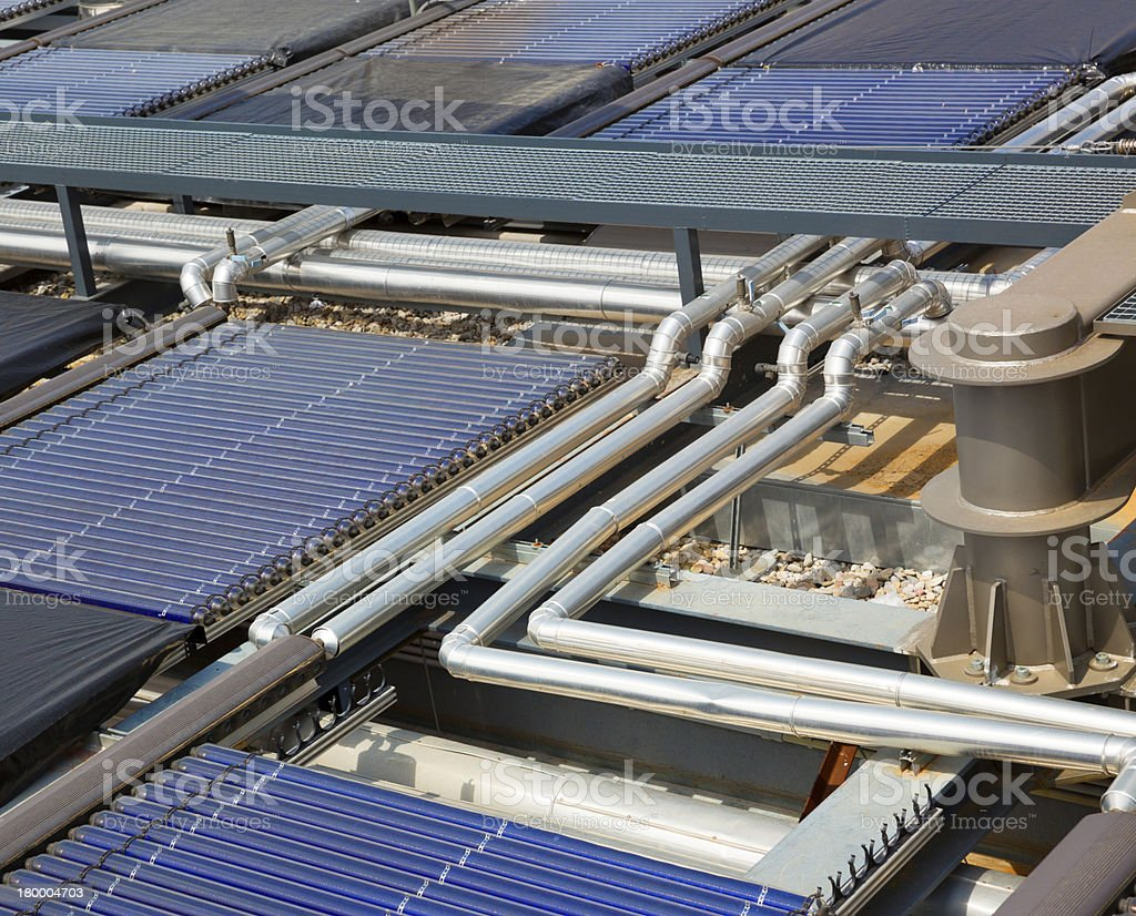 Water solar panels royalty-free stock photo