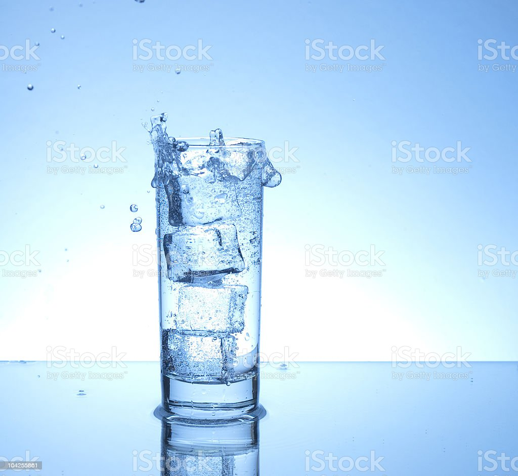Water spill royalty-free stock photo