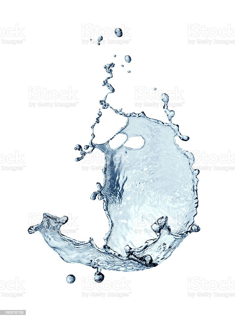 Water Splash Abstract royalty-free stock photo