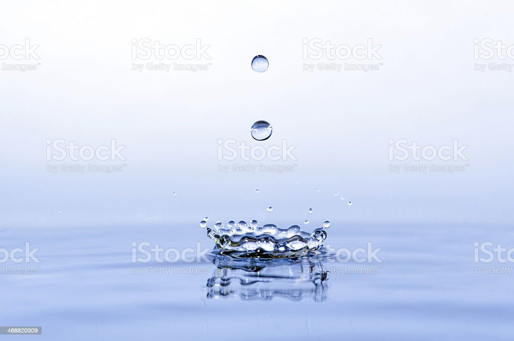 Water splash close up with drops royalty-free stock photo