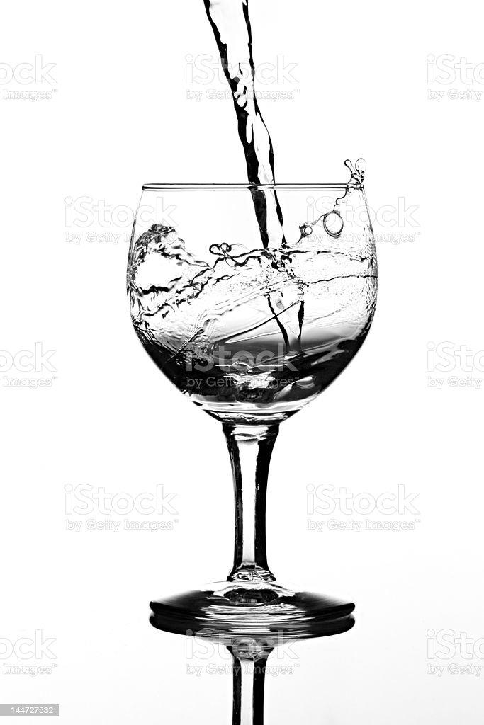 water splash glass stock photo