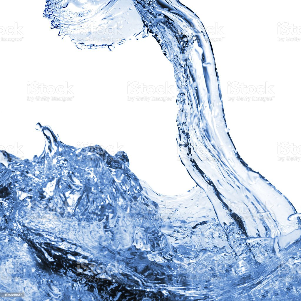water splash isolated on white stock photo