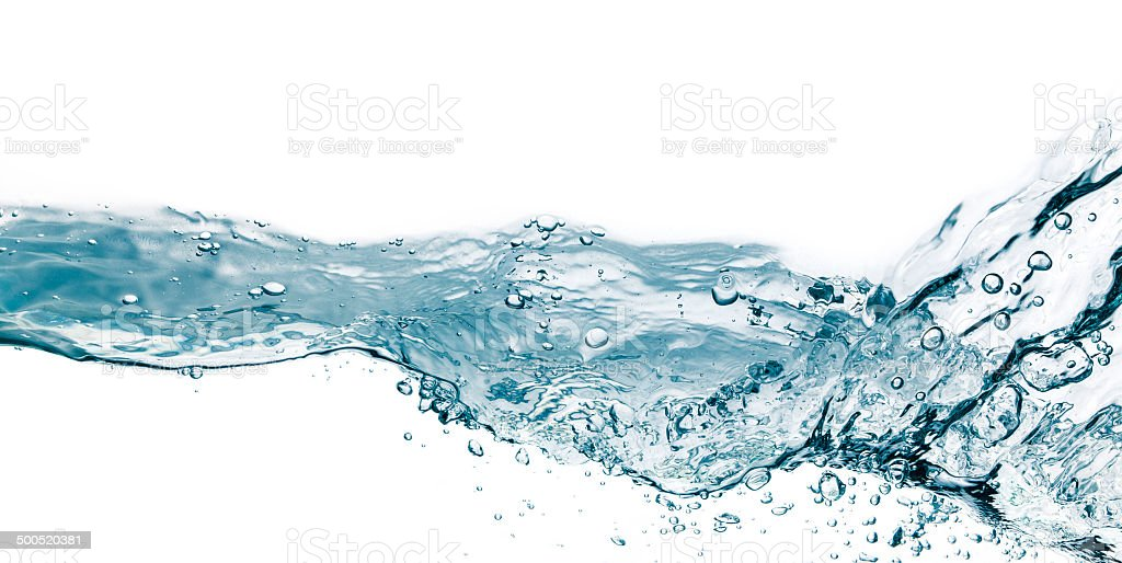 Water splash isolated on white royalty-free stock photo