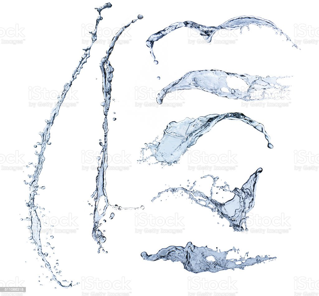 water splash isolated stock photo