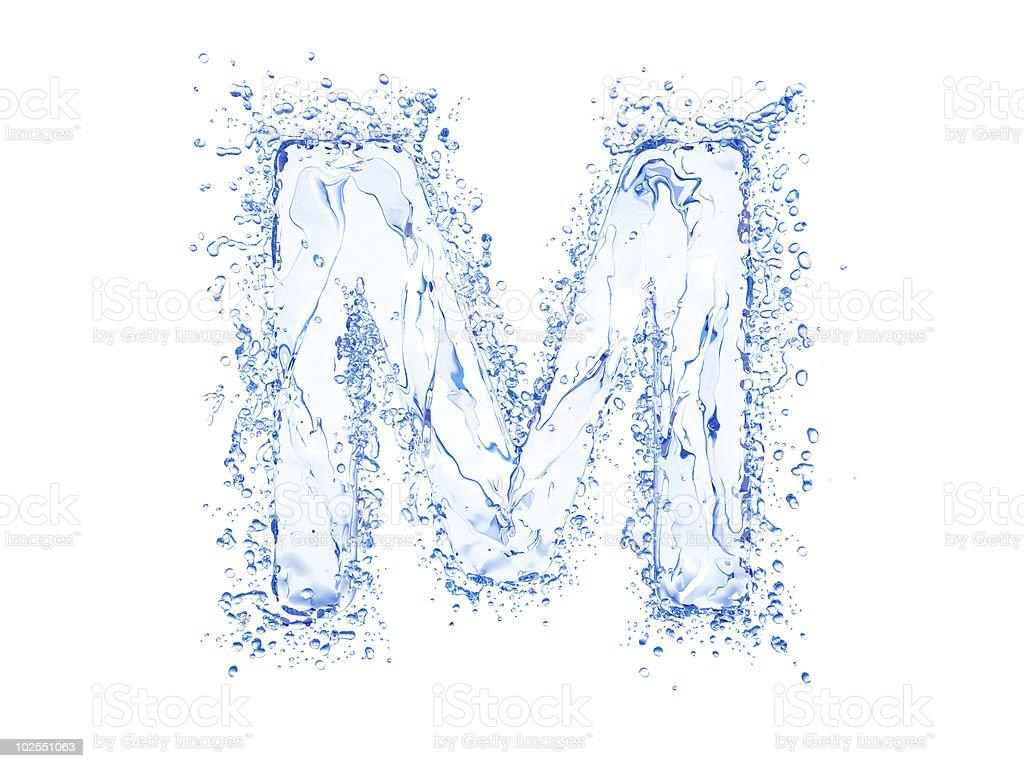 Water splash letter stock photo