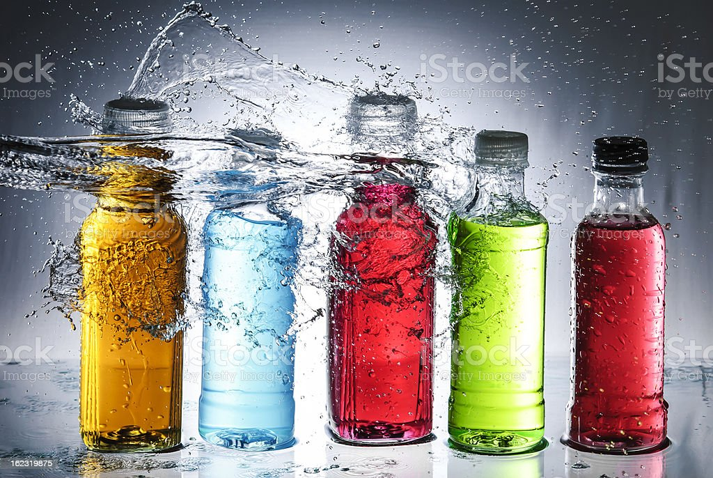 Water splash out of glass royalty-free stock photo