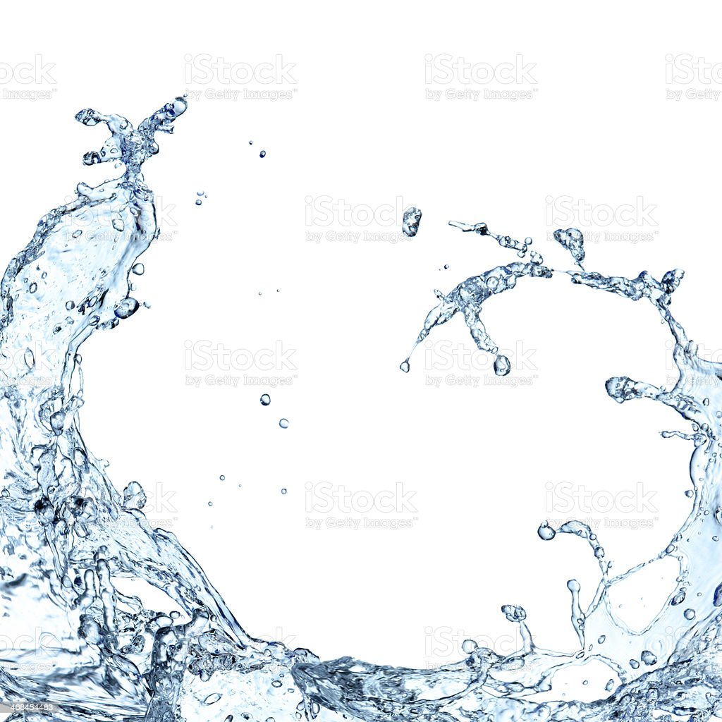 Water splash stock photo