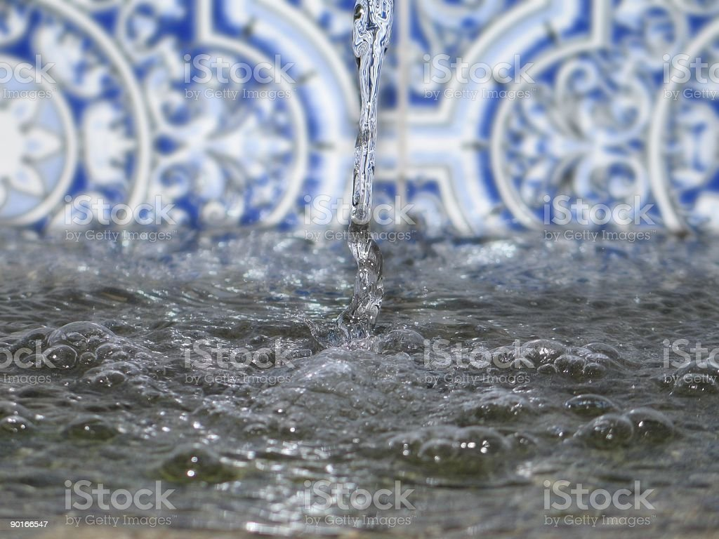 Water Splash Stopped down royalty-free stock photo