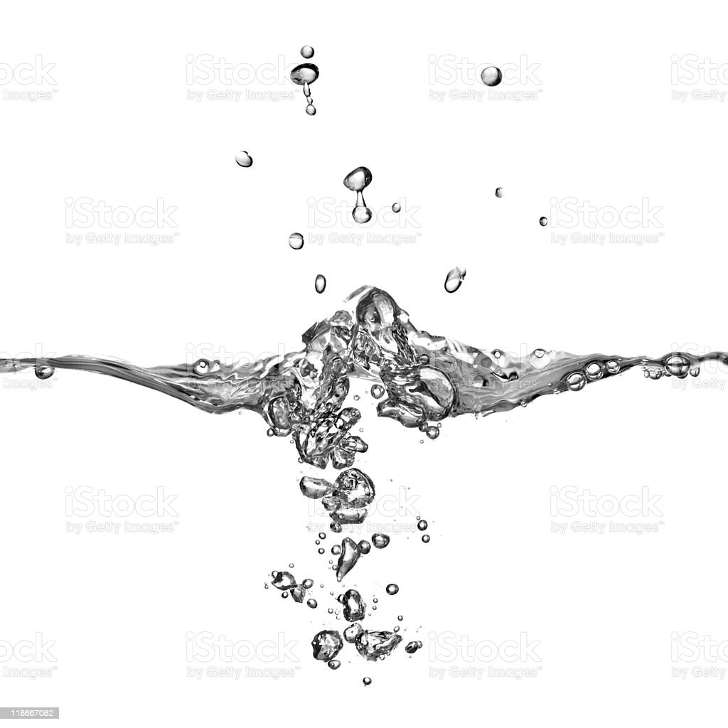 water splash with bubbles royalty-free stock photo