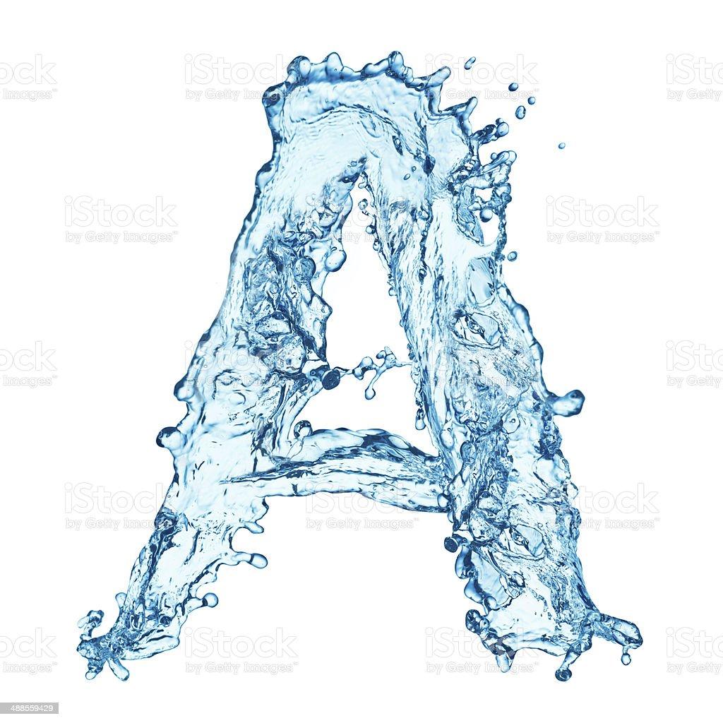 Water splashes letter stock photo