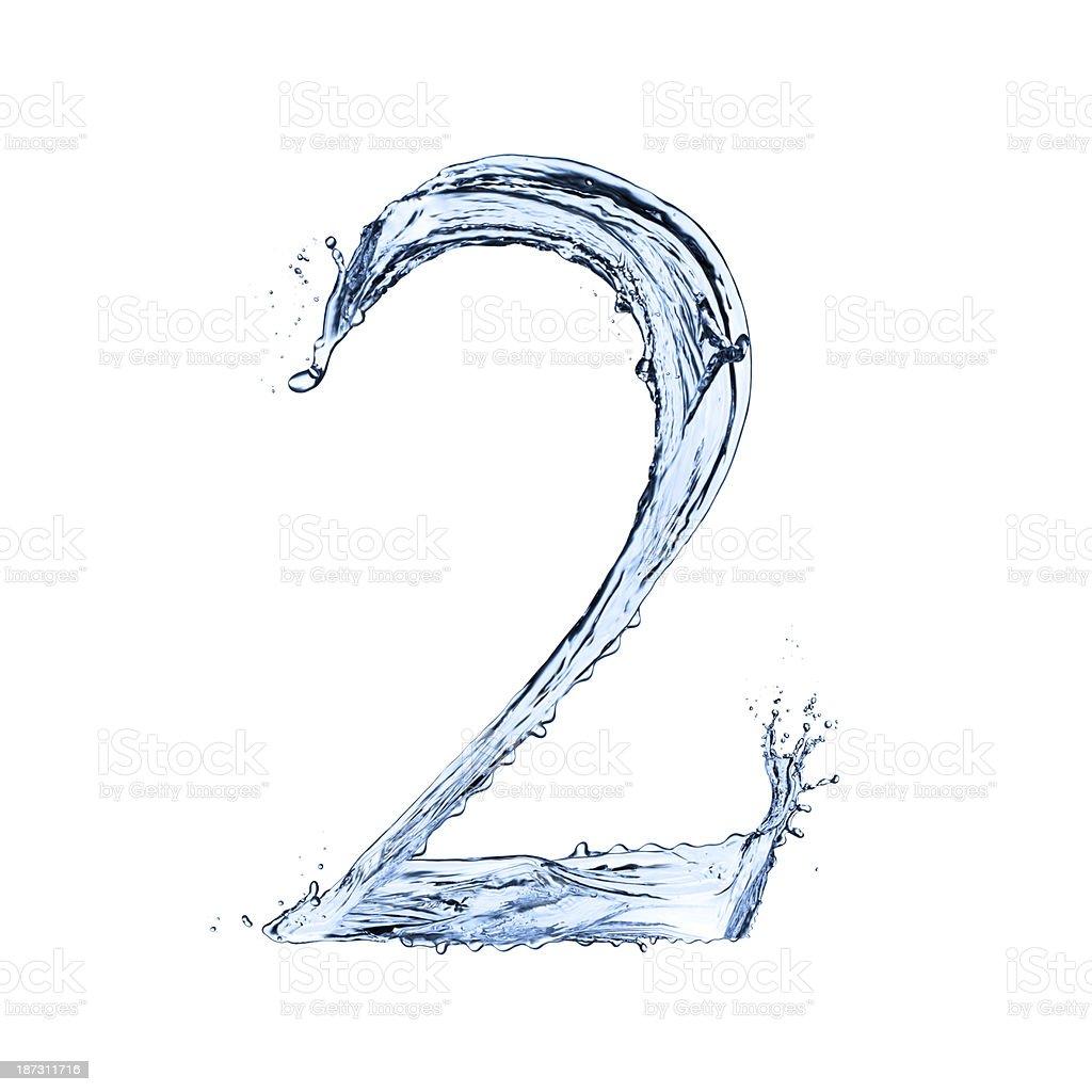 Water splashes number stock photo