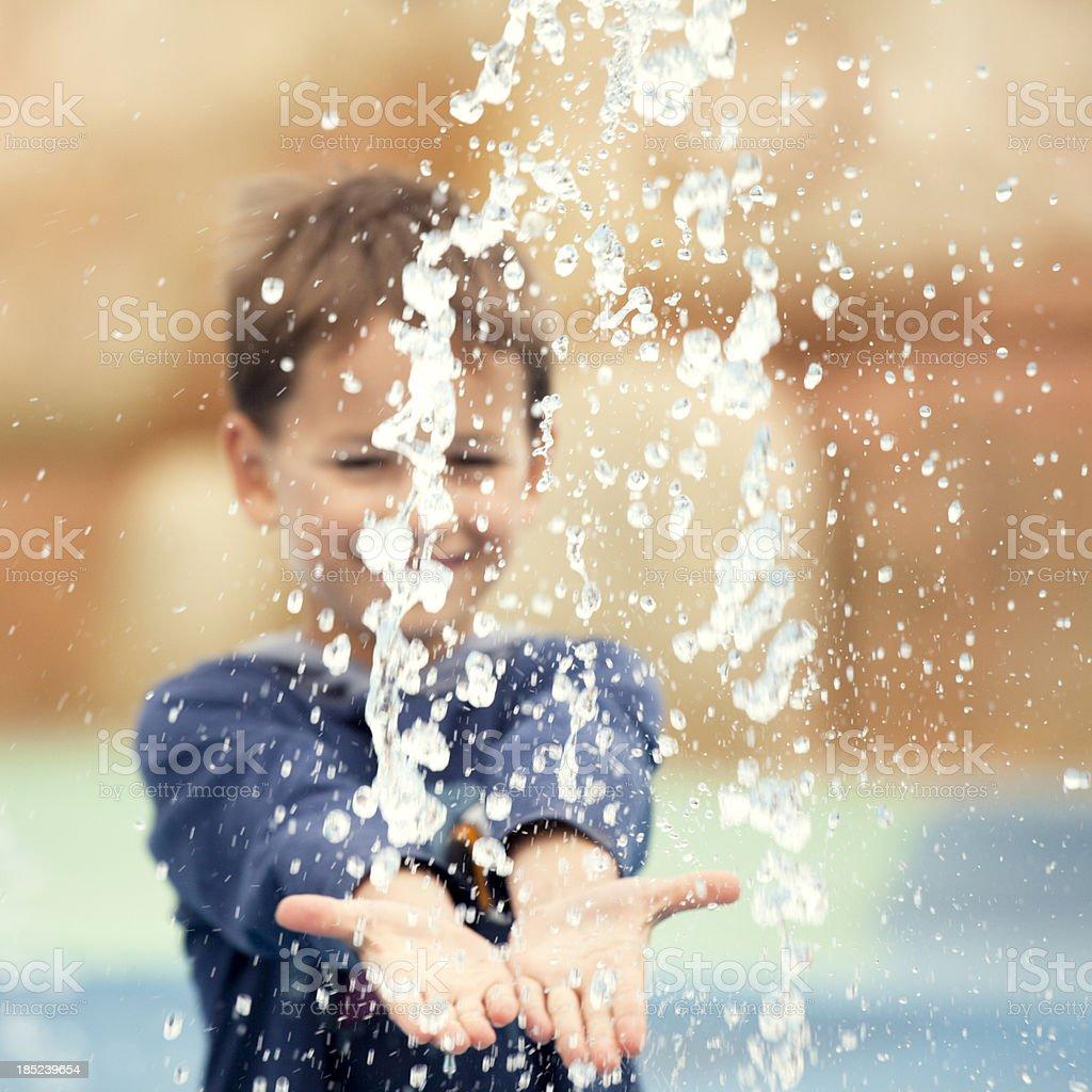 Water splashes royalty-free stock photo