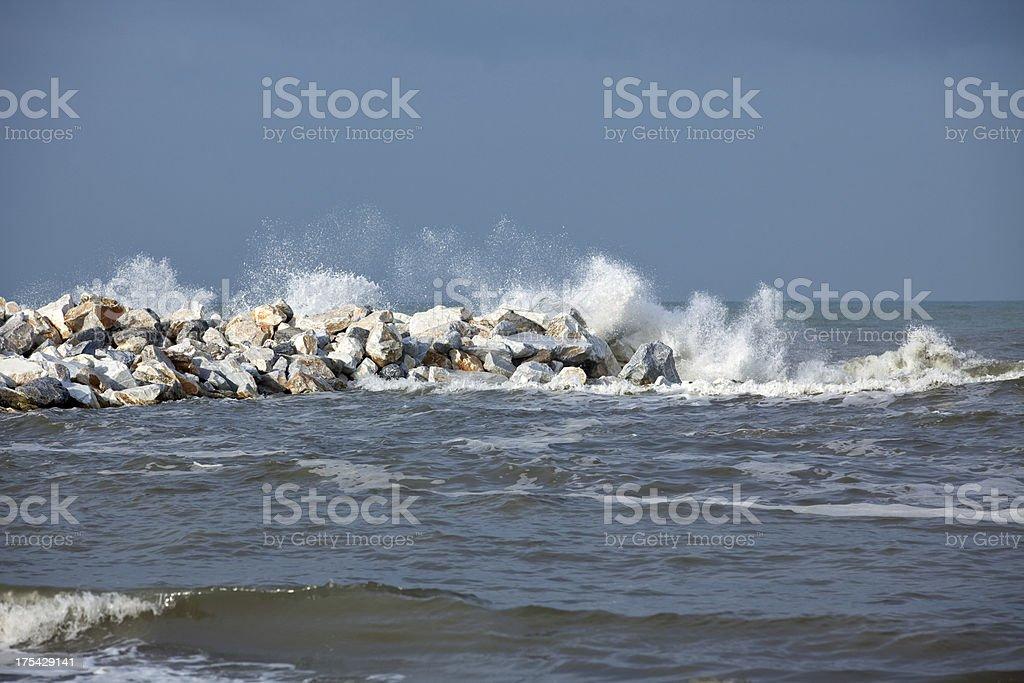 water splashs over the rocks royalty-free stock photo