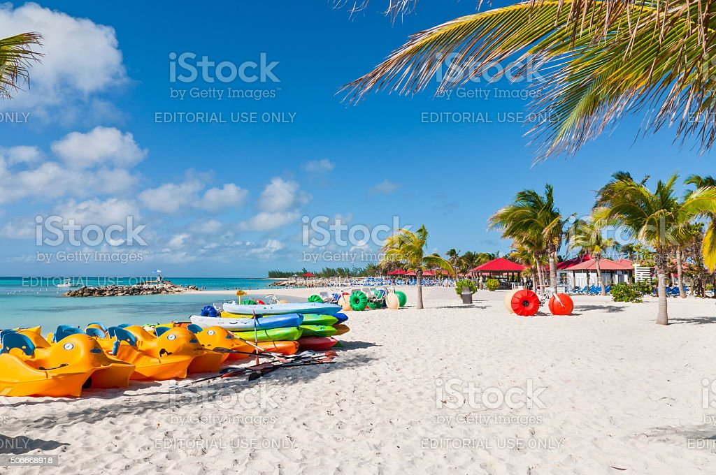 Water sport equipments - Bahamas stock photo