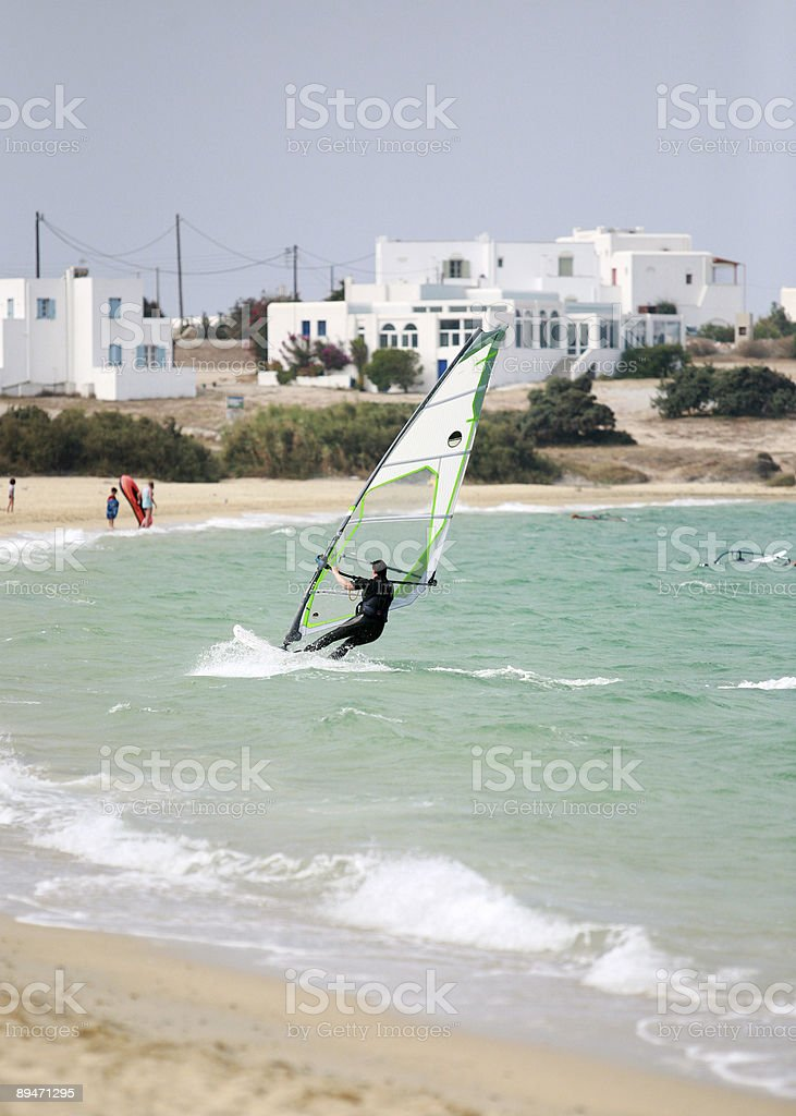 water sports in Naxos royalty-free stock photo
