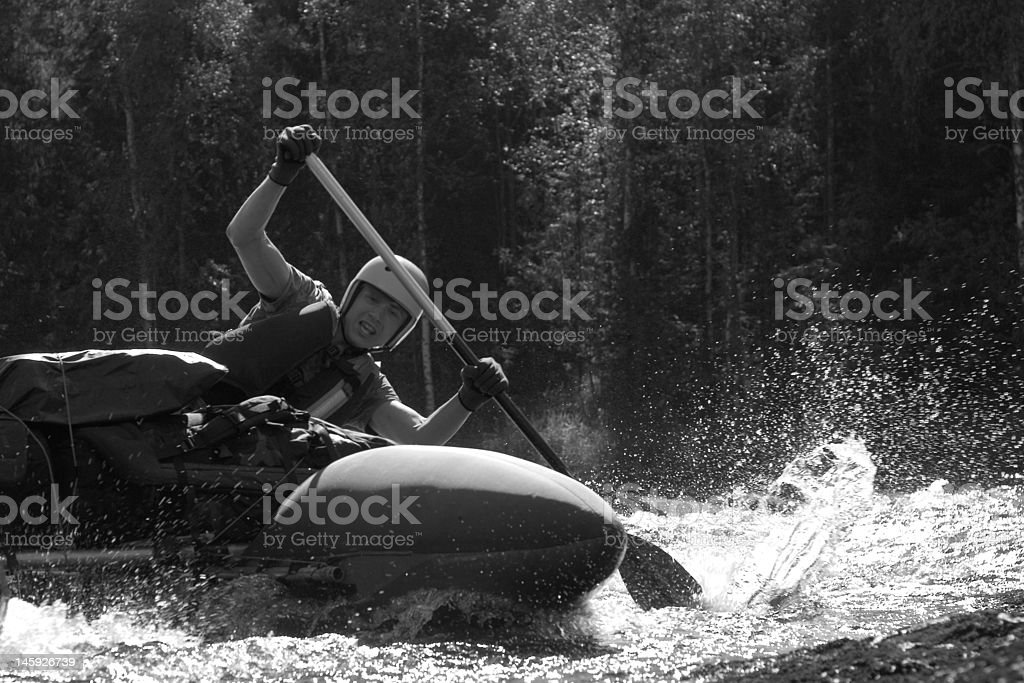 water sportsman royalty-free stock photo