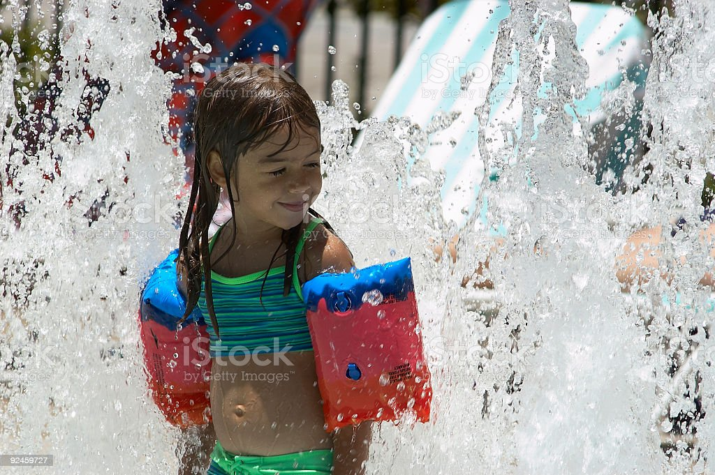 Water Spray Fun royalty-free stock photo