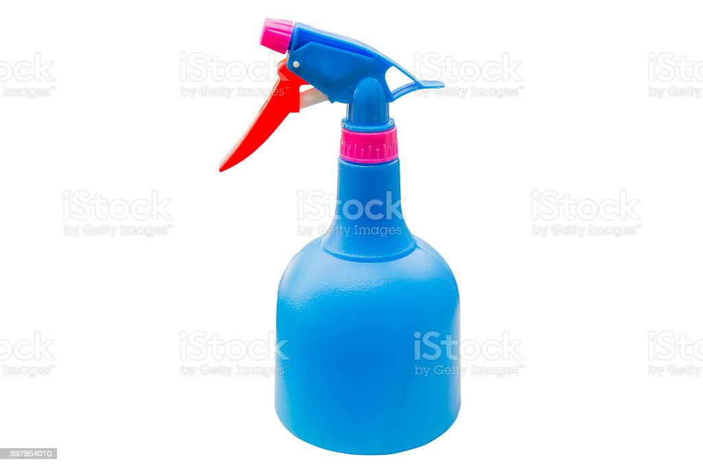water sprayer isolated on white background stock photo