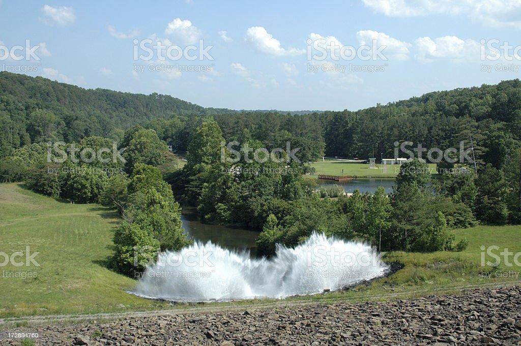 Water Spraying royalty-free stock photo