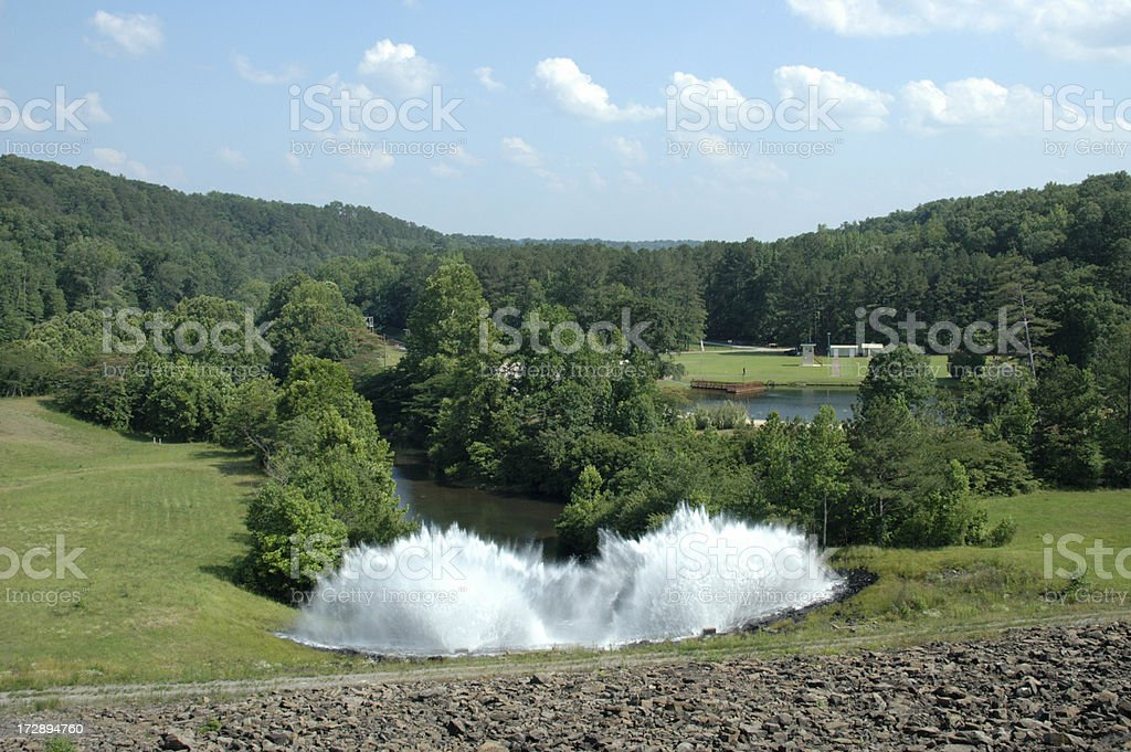 Water Spraying stock photo