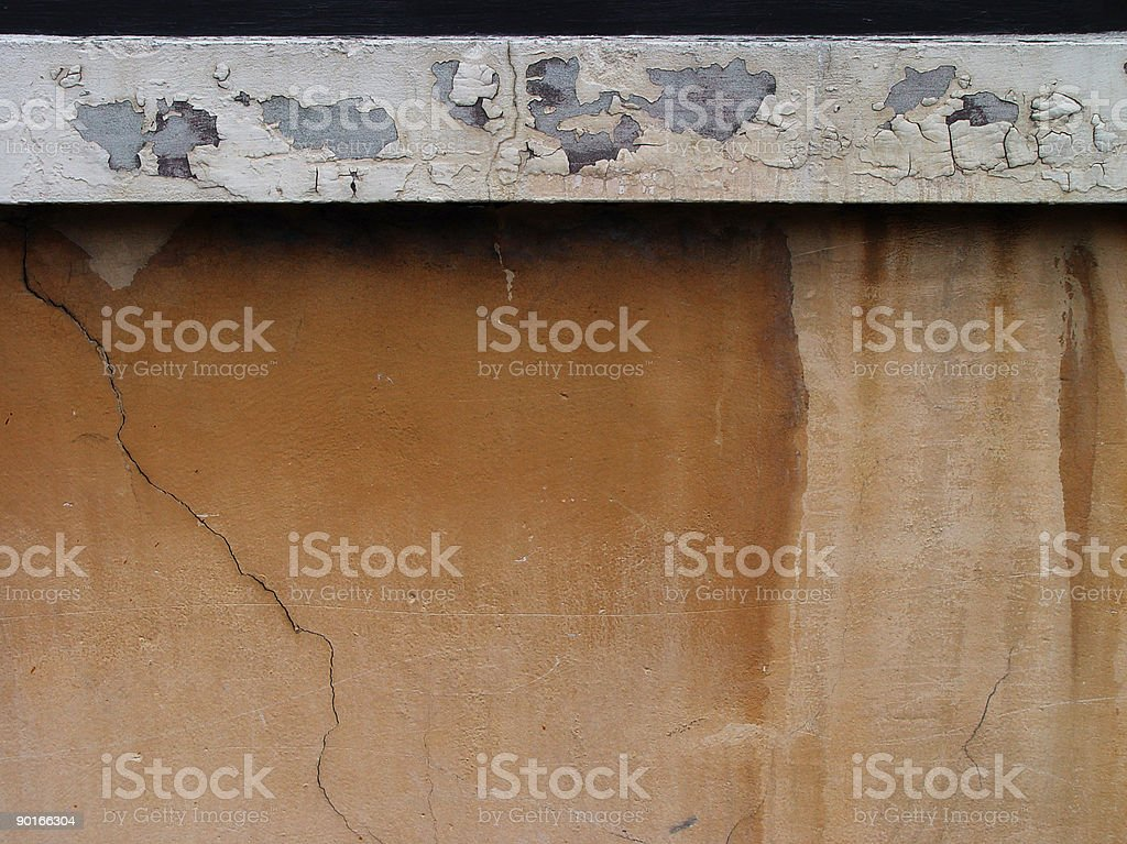 water stained stucco stock photo