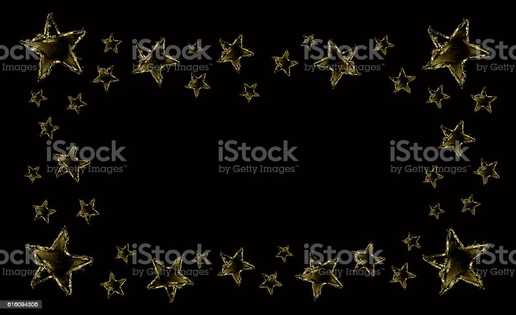 Water Star Frame royalty-free stock photo