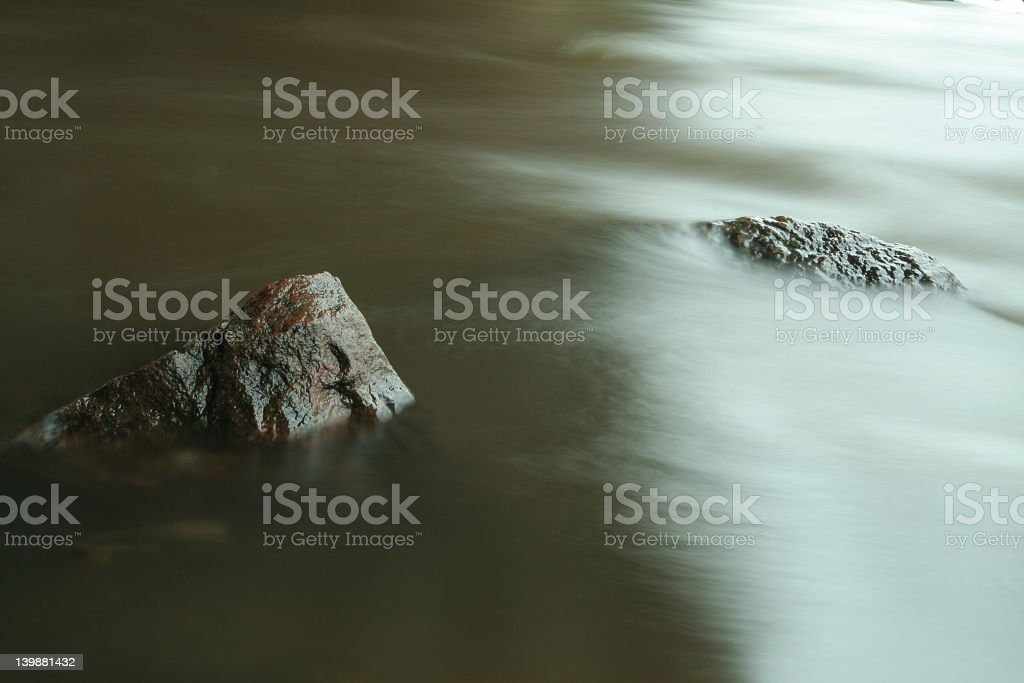 Water, stone and light royalty-free stock photo