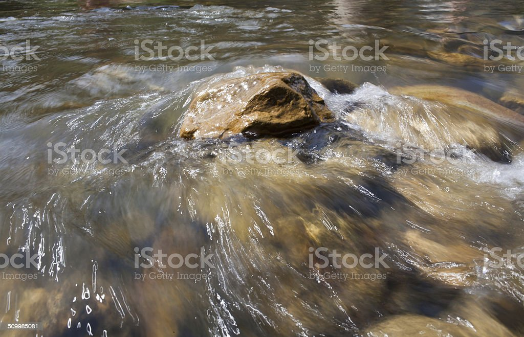 Water stream in high mountains stock photo