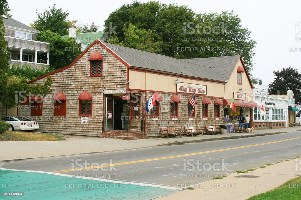 Water Street, Plymouth, Massachusetts, USA stock photo