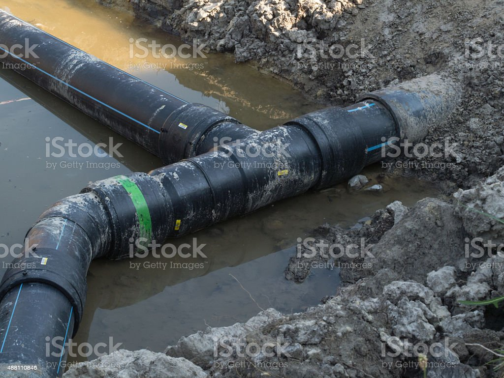 water supply connection stock photo