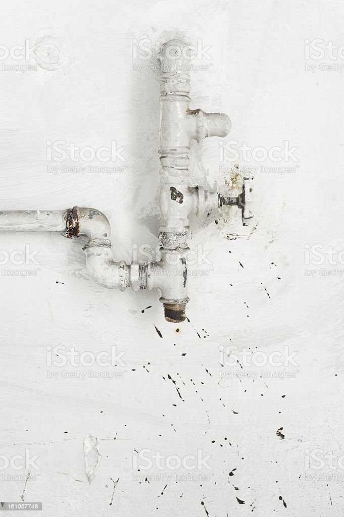 Water supply valve stock photo