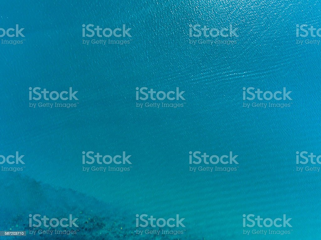 water surface aerial view stock photo