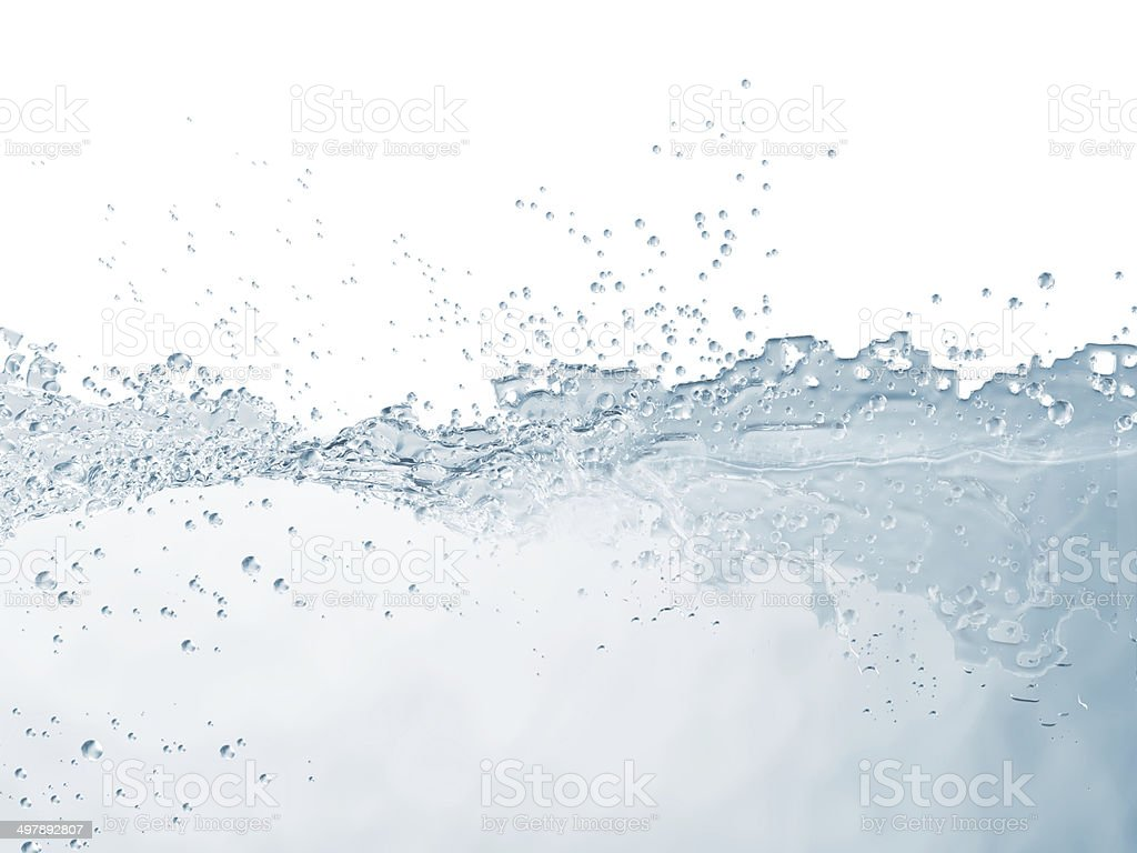 Water Surface isolated on white background stock photo