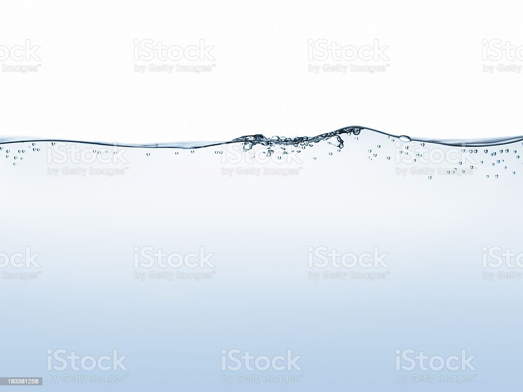 Water surface isolated on white stock photo